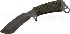 Medford TS2 Tactical Service Sniper Fixed 5-1/5 inch Black D2 Plain Blade, OD Green Handle, OD Kydex Sheath