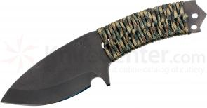 Medford TSP Tactical Spear Point Fixed 3-3/4 inch Black D2 Plain Blade, Multi Cam Handle, OD Green Kydex Sheath