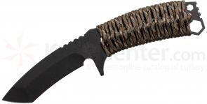 Medford TST1 Tactical Service Tanto Fixed 2.25 inch Black D2 Plain Blade, Desert Camo Handle, Coyote Kydex Sheath