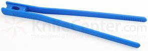 Messermeister 10-1/2 inch Chopstick Food Tongs, Blue (Resistant up to 390°F)