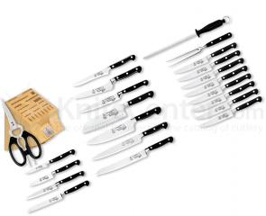 Messermeister Meridian Elite 23 Piece Ultra Block Set with Elite Steak Knives