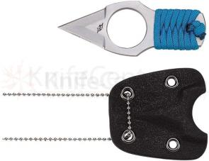 Meyerco Dirk Pinkerton Variable Broadhead Neck Knife 1-1/4 inch Double Edge Blade, Royal Blue Cord Wrapped Handle