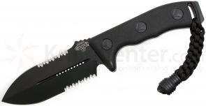Microtech 101-2BL Crosshair Combat Knife Fixed 4.5 inch Black Double Combo Edge Blade