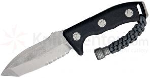Microtech 103-11 Stonewashed Tanto Currahee Combat Knife Fixed 4.5 inch Single Combo Edge Blade, Kydex Sheath
