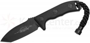 Microtech 103-1BL Black Tanto Currahee Combat Knife Fixed 4.5 inch Single Plain Edge Blade, Kydex Sheath