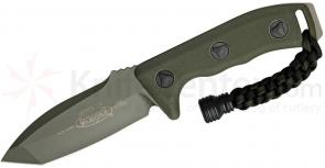 Microtech 103-1GR Green Tanto Currahee Combat Knife Fixed 4.5 inch Single Plain Edge Blade, Kydex Sheath