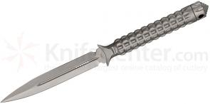 Microtech 115-7 Bead Blast Spear Point ADO Fixed 4.5 inch Double Plain Edge Blade, Hollow Handle