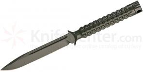 Microtech 116-1GR Green Drop Point ADO Fixed 4.5 inch Single Plain Edge Blade, Hollow Handle