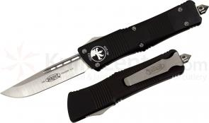 Microtech 139-4 Troodon AUTO OTF 3.06 inch Satin Plain Drop Point Blade