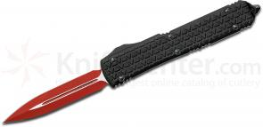 Microtech Special Sith Lord Ultratech AUTO OTF 3.46 inch Red Elmax Double Edge Blade, Tri-Grip Aluminum Handle