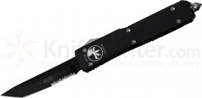 Microtech 123-2 Ultratech AUTO OTF 3.46 inch Black Combo Tanto Blade