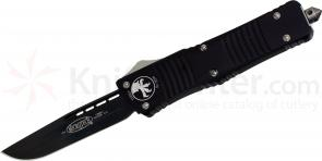 Microtech 143-1 Combat Troodon AUTO OTF 3.75 inch Black Plain Drop Point Blade, Aluminum Handle