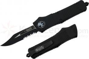 Microtech 143-2 Combat Troodon AUTO OTF 3.75 inch Black Combo Bowie Blade