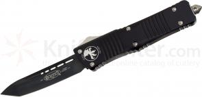 Microtech 144-1 Combat Troodon AUTO OTF 3.75 inch Black Plain Tanto Blade