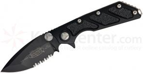 Microtech 153-2 DOC Death on Contact Manual 4 inch Black Combo Blade, Aluminum Handles