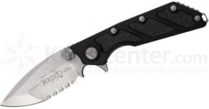 Microtech 153-5 DOC Death on Contact Manual 4 inch Satin Combo Blade, Aluminum Handles