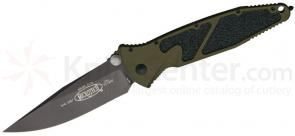 Microtech 160-1GR Socom Elite Manual 4.05 inch Black Plain Blade, Green Aluminum Handles