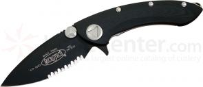 Microtech 167-2 Whaleshark Manual 3-3/4 inch Black Combo Blade