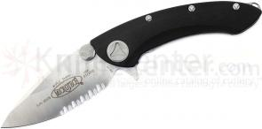 Microtech 167-5 Whaleshark Manual 3-3/4 inch Satin Combo Blade