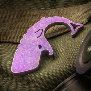 Moby Whalers Purple/Gold Two-Toned Anodized 0.20 inch Thick Titanium Moby Whaler V3