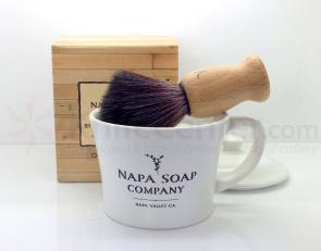 Napa Soap Company Ceramic Shaving Soap Gift Set, Cool Mint