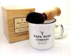Napa Soap Company Enamel Shaving Soap Gift Set, Honey Jar