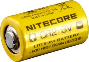 NITECORE CR2 Lithium Battery 2-Pack, Non-Rechargeable