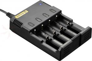 NITECORE i4 Intellicharge Li-ion, Ni-MH and Ni-Cd Battery Charger, 4 Slot