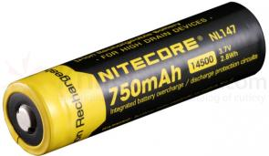 NITECORE 14500 Rechargeable Lithium Battery