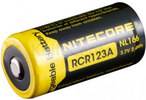 NITECORE RCR123A Rechargeable Lithium Battery