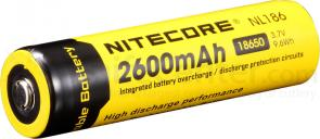 NITECORE NL186 18650 Rechargeable Lithium Battery, 2600mAh