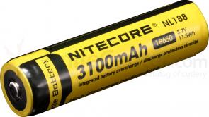 NITECORE 18650 Rechargeable Lithium Battery, 3100mAh