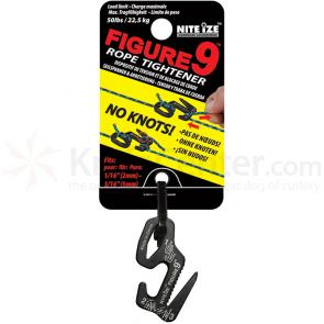 Nite Ize Figure 9 Small Rope Tightener, Black, Single Pack (F9S-02-01)