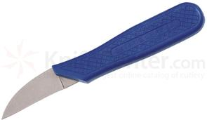 Ontario Tomato Field Knife 1.75 inch Stainless Steel Blade, Blue Plastic Handle