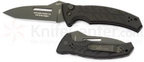 Ontario XM Strike Fighter AUTO Combat Folder 3.375 inch Plain Edge Blade