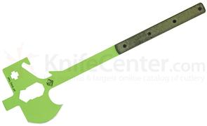 Ontario Ranger Rescue Entry Tool 25.5 inch, Safety Green, OD Green Micarta Handles, No Sheath
