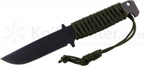 Ontario Vulpine Fixed 4.77 inch Carbon Steel Blade, Steel Handle with Optional Paracord Wrap