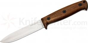 Ontario Bushcraft Field Knife Fixed 5 inch 5160 Carbon Blade, Walnut Wood Handles, DeSantis Sheath