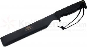 Ontario SP8 125th Anniversary Machete Survival 10 inch 1095 Carbon Sawback Blade, OD Green Kydex Sheath