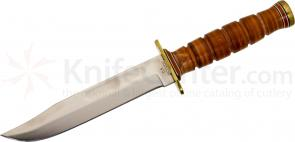 Ontario 6311 P4 USMC Combat Knife Fixed 7 inch Blade, Leather Handle, Leather Sheath