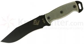 Ontario Ranger Series Night Stalker 6 Fixed 6 inch Blade, Black Micarta Handles