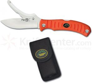 Outdoor Edge Flip n' Blaze 3-1/2 inch Skinning and Gutting Blades, Orange Kraton Handles