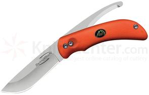 Outdoor Edge SwingBlaze Hunting Knife, Two Blades in One, Orange TPR Handle, Nylon Sheath