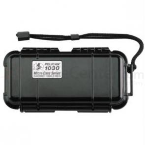 The Pelican 1030 Case Black 6 3/8 inch L x 2 5/8 inch W x 2 inch D