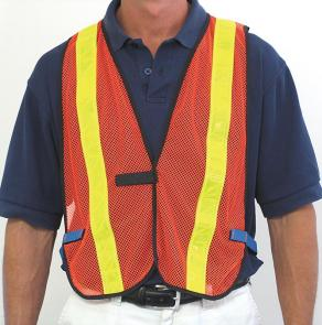PhysiciansCare Brand Orange Reflective Safety Vest