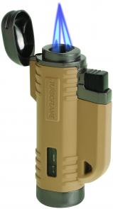 Turboflame VFlame Windproof Lighter, Desert Tan