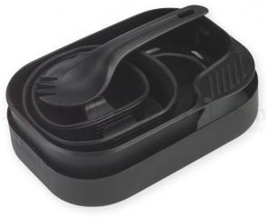 Wildo Camp-A-Box Utensil and Plate Set, Black
