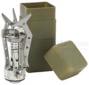 NDuR Lightweight Compact Stove, Olive Drab Carry Case