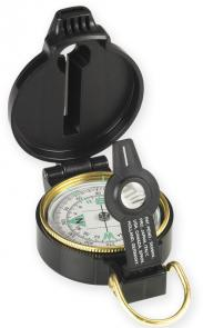 NDuR Lensatic Compass with Whistle, Black