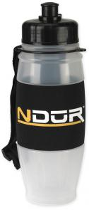 NDuR 28oz Pull Top Water Filtration Bottle, Clear with Black Cap